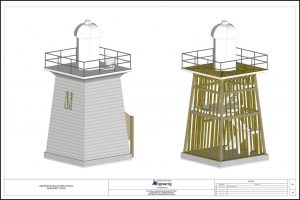 3D Model of the Five Mile Light